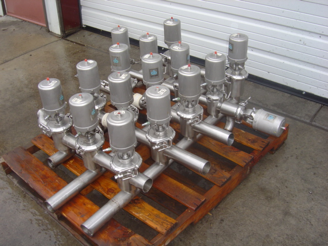 Used valve clusters dairy engineering company